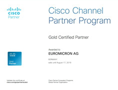 euromicron Cisco Gold Certified Partner