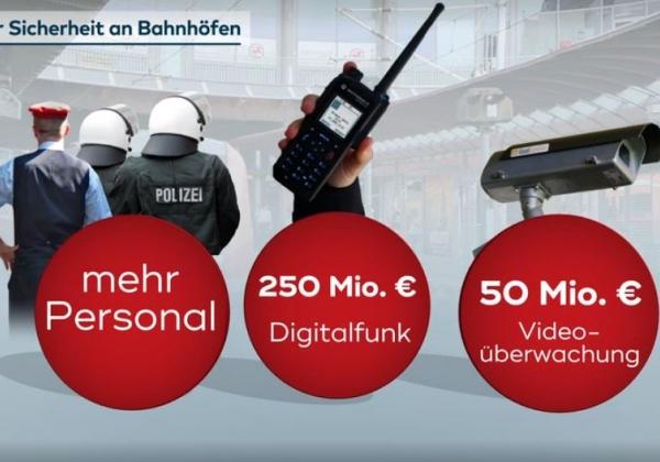 Mehr Personal, Ausbau des Digital-Funks und eine modernisierte Videotechnik